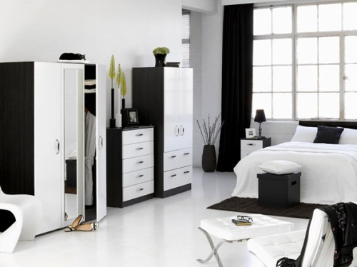 dormitorio en Black-White