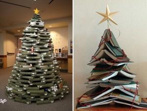 arbol hecho con libros