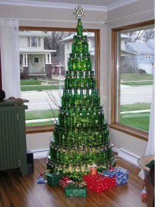 arbol con botellas