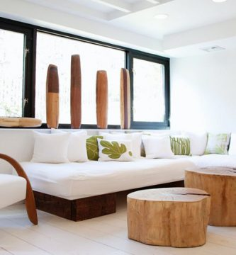Muebles de materiales naturales