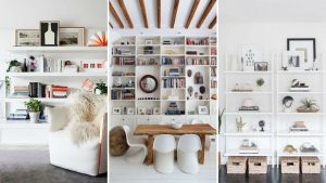 decoración con librerías y estanterías