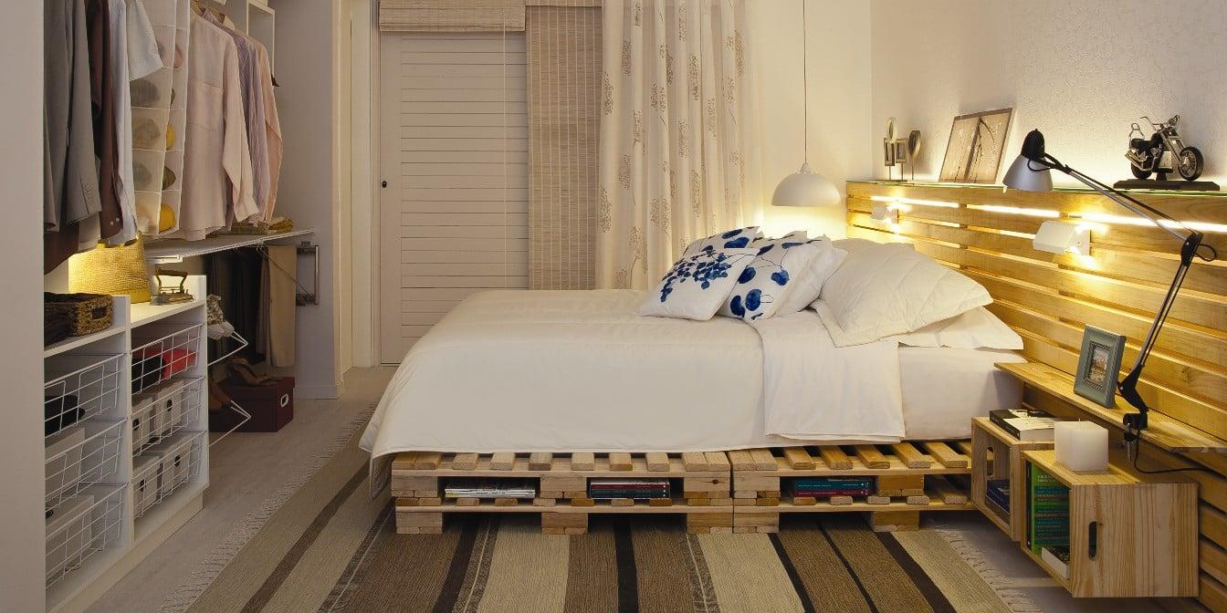 cama con palet