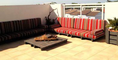Ideas de decoracion para terrazas con palets de madera