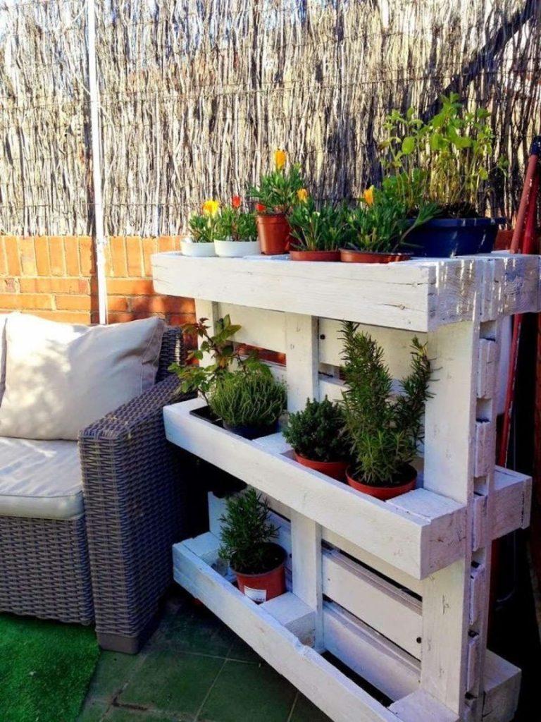 Palets terraza plantas