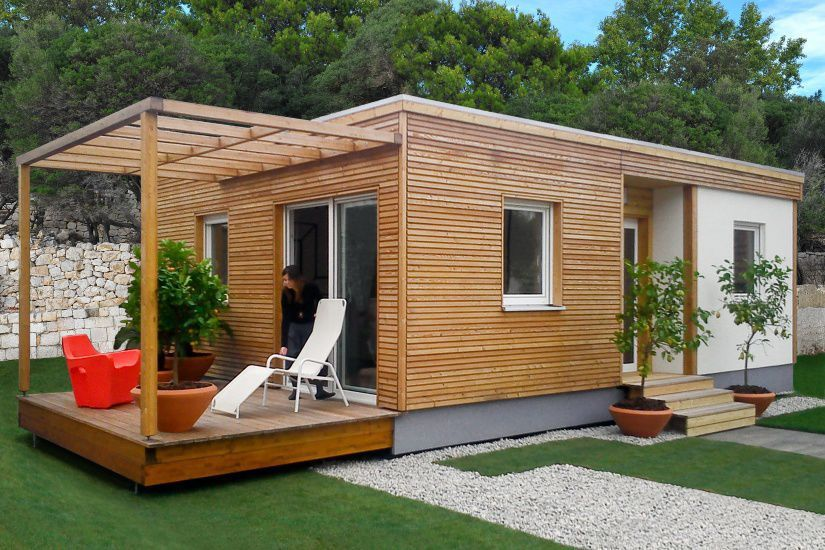 casa madera prefabricada jardin