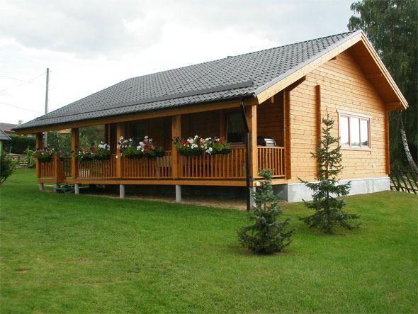 jardin arbusto casa madera
