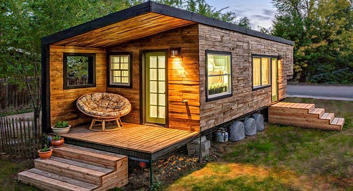 casa madera jardin escaleras