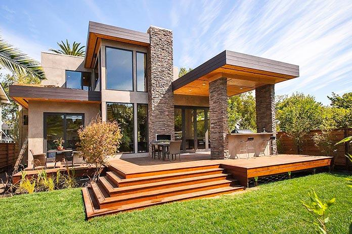 casa ecologica prefabricada jardin exterior