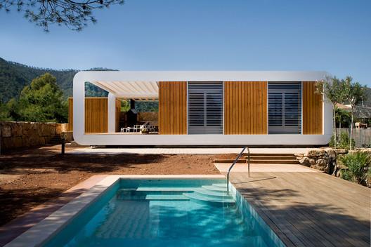 casa ecologica jardin piscina