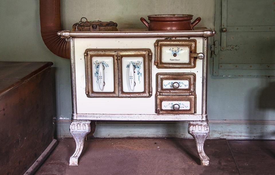 antigua estufa