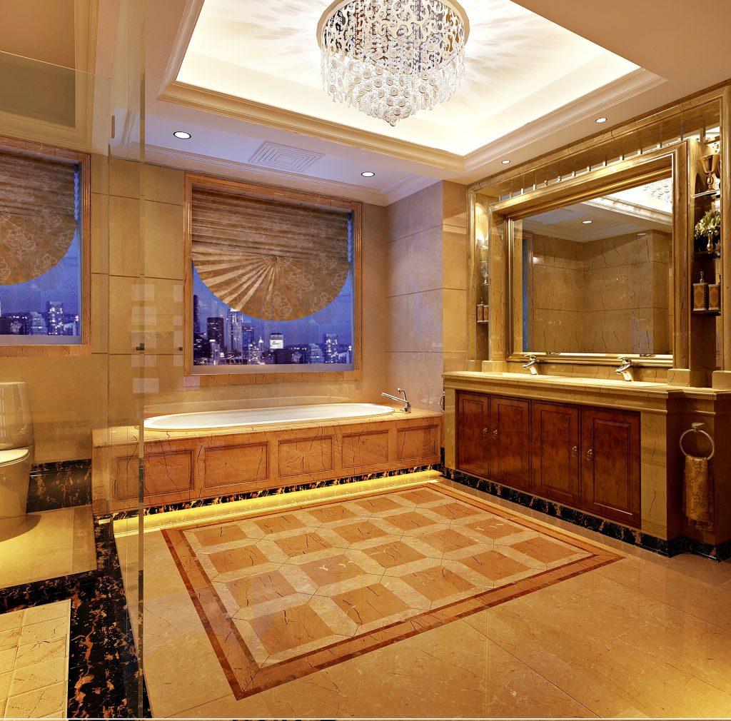 baño neoclásico