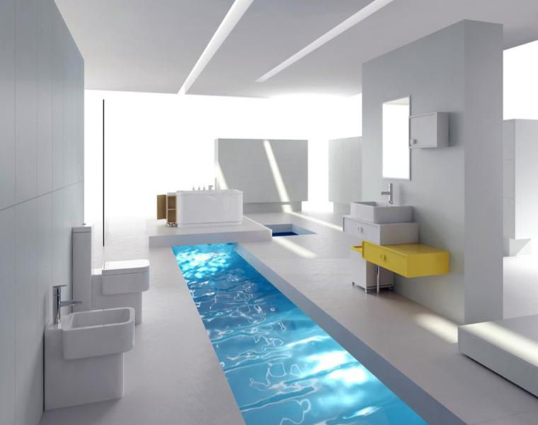 Baños futuristas