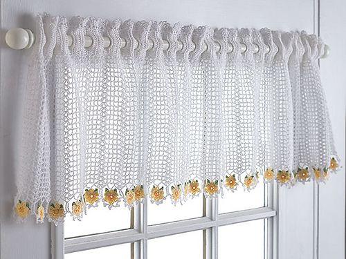 cortina cocina decoracion flores