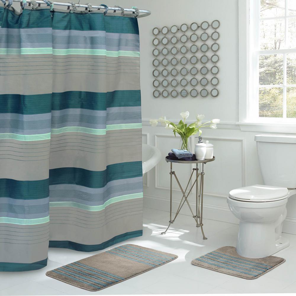 cortina de baño iluminacion estilo