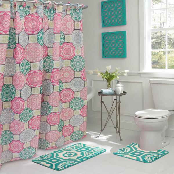 cortina de baño diferente decoracion azul