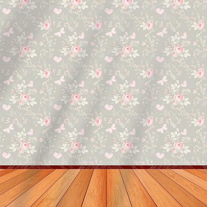 papel estampado flores rosas