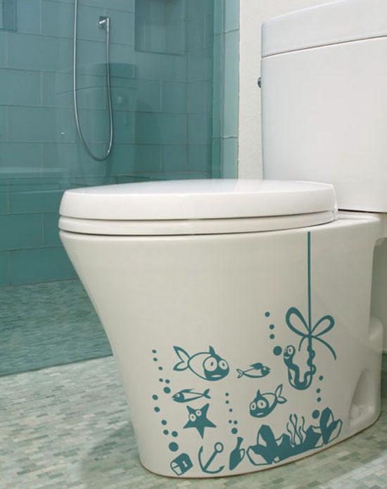 inodoro baño vinilo decoracion