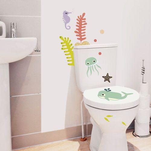 vinilo decoracion inodoro baño