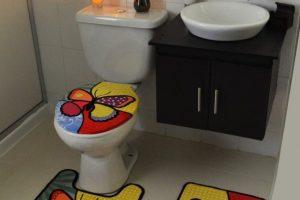 baño estilo decoracion mariposa