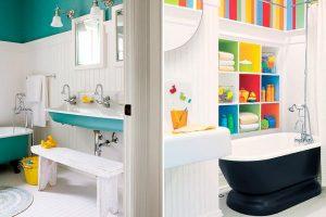 baños decoracion niños bañera