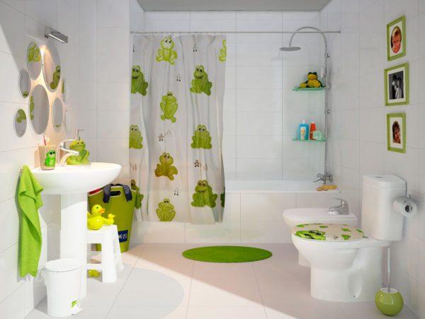 dibujos baño niño verde decoracion