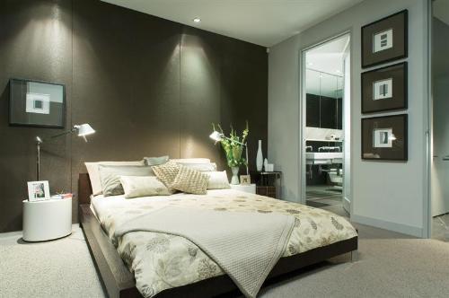 baño decoracion cama matrimonial
