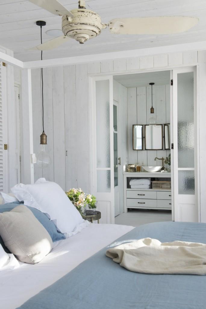 cama matrimonial decoracion baño dormitorio